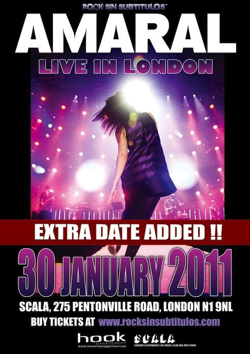 Se Añade Segunda Fecha En Londres, Domingo 30 De Enero