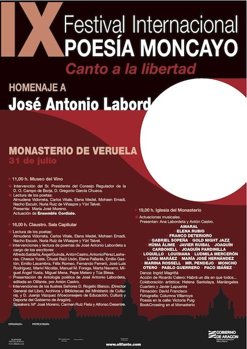 Amaral En El Homenaje A José Antonio Labordeta, En El IX Festival Internacional Poesía Del Moncayo