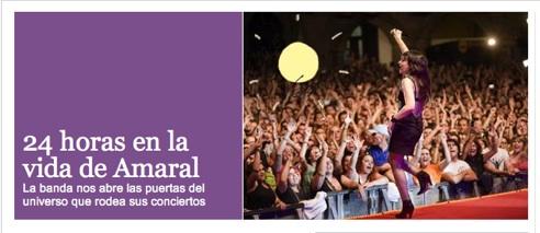 Amaral En El País: 24 Horas En La Vida De Una Banda