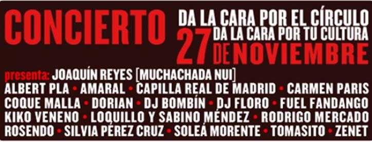 Concierto En Apoyo Del Círculo De Bellas Artes De Madrid, Hoy, 27 De Noviembre