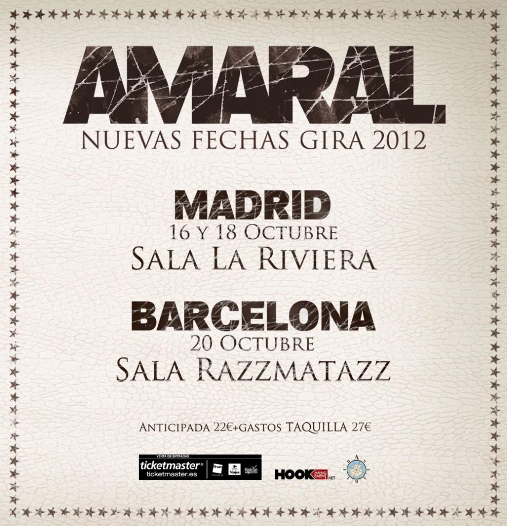 Amaral En Madrid Y Barcelona En Octubre