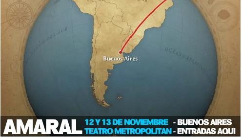 Amaral En Buenos Aires El 12 Y 13 De Noviembre En El Metropolitan